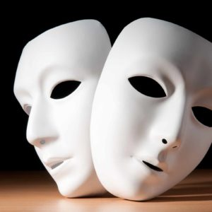 Image of two theatrical masks for the Character education article
