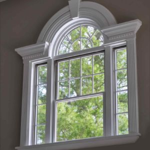 Image of an arched window for the Schools and the community post